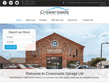 Tablet Preview of crossroads-garage.co.uk
